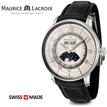 Maurice Lacroix Moon Phase Mens Watch