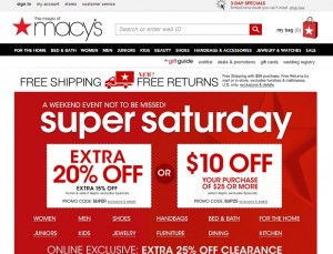 Macys Super Saturday