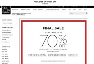 Saks Fifth Avenue Final Sale