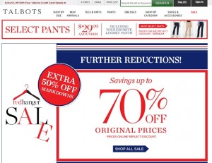 Talbots Red Hanger Sale Summer