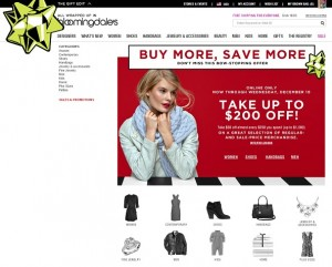 Bloomingdales December 2014 Sale
